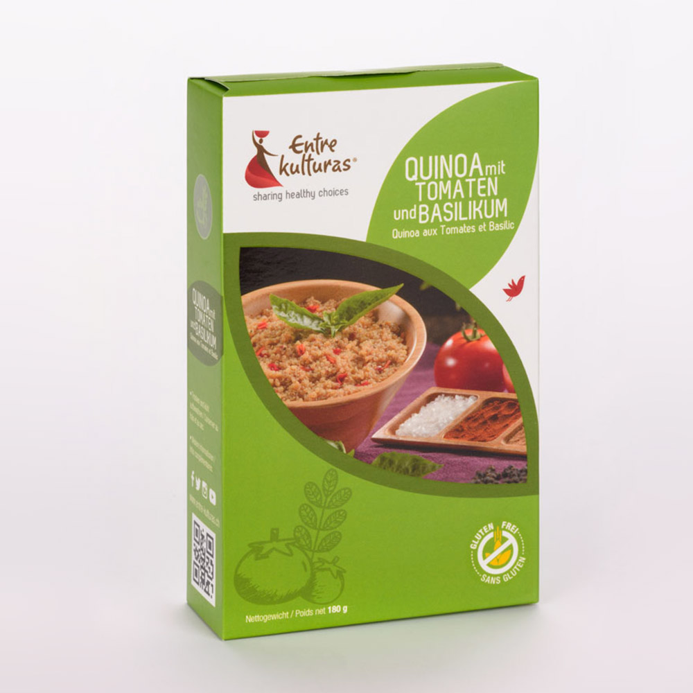 Quinoa Mit Tomaten Und Basilikum
