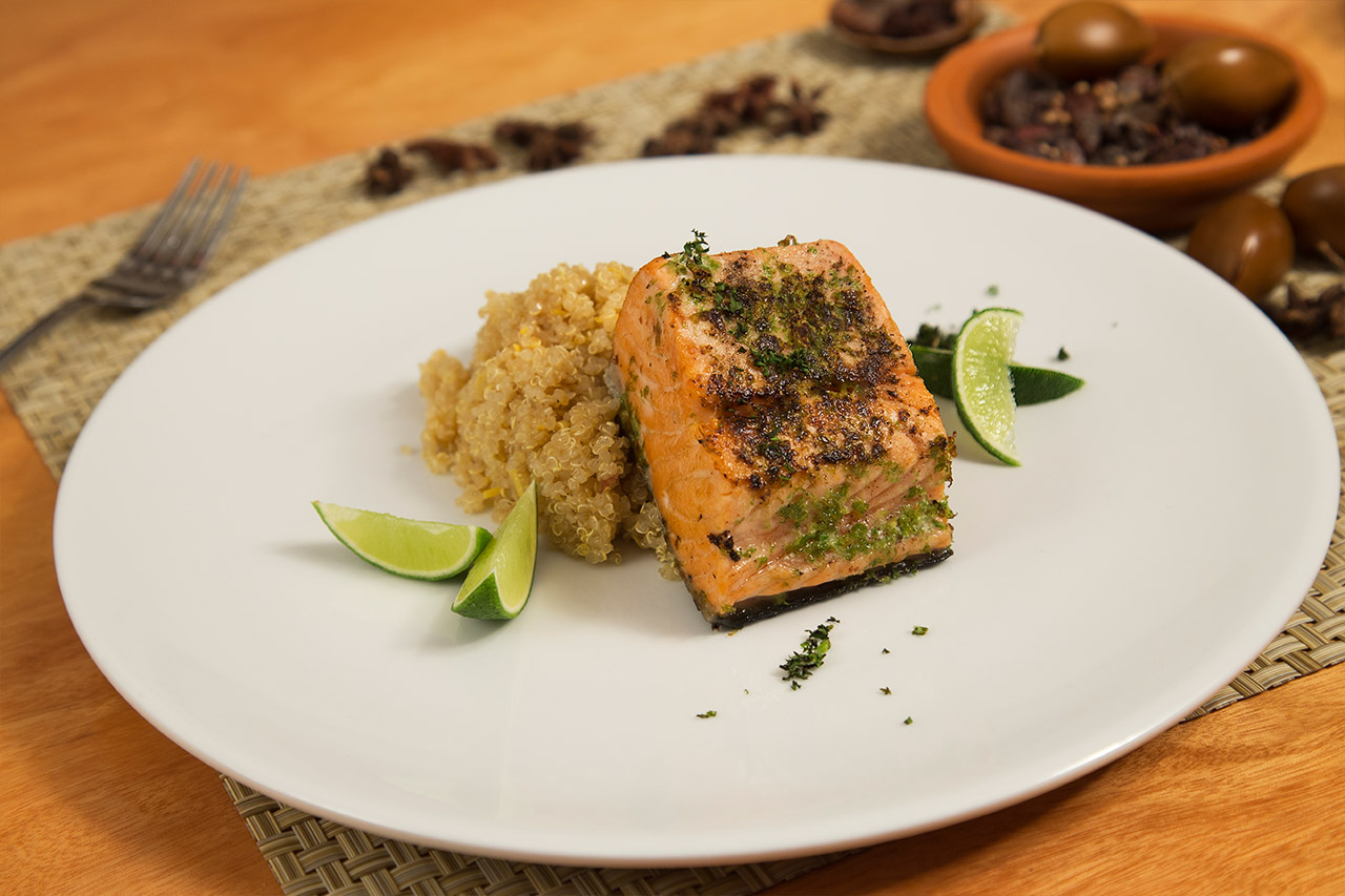 Citrus Salmon With Pepper